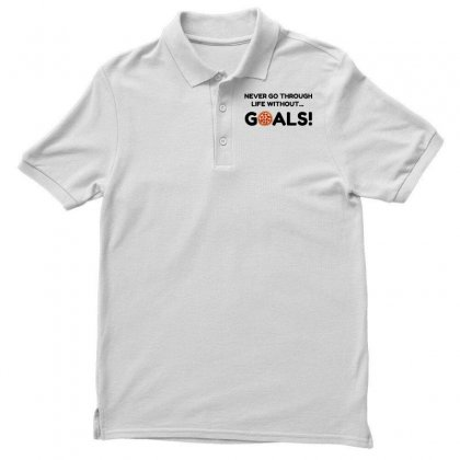 Pizza Goals Polo Shirt Designed By Perfect Designers