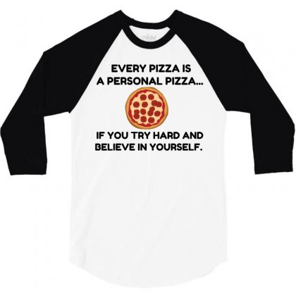 Personal Pizza 3/4 Sleeve Shirt Designed By Perfect Designers