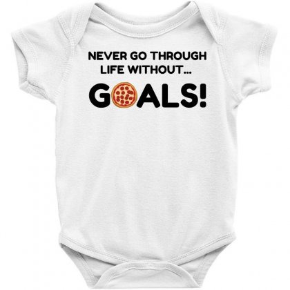 Pizza Goals Baby Bodysuit Designed By Perfect Designers