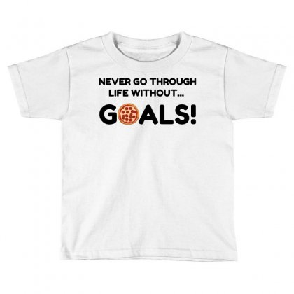 Pizza Goals Toddler T-shirt Designed By Perfect Designers