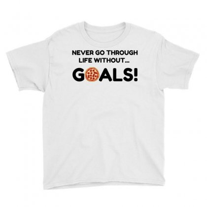 Pizza Goals Youth Tee Designed By Perfect Designers