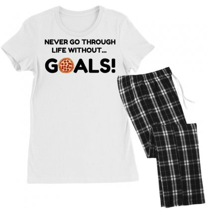 Pizza Goals Women's Pajamas Set Designed By Perfect Designers