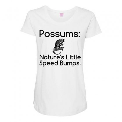 Possums Speed Bumps Maternity Scoop Neck T-shirt Designed By Perfect Designers