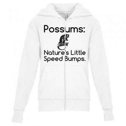 Possums Speed Bumps Youth Zipper Hoodie Designed By Perfect Designers