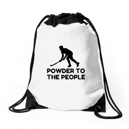 Powder Snow To The People Ski Drawstring Bags Designed By Perfect Designers