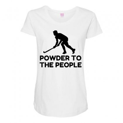 Powder Snow To The People Ski Maternity Scoop Neck T-shirt Designed By Perfect Designers