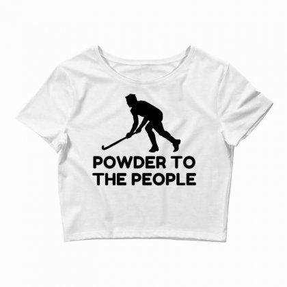 Powder Snow To The People Ski Crop Top Designed By Perfect Designers