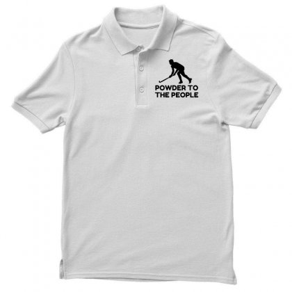Powder Snow To The People Ski Polo Shirt Designed By Perfect Designers