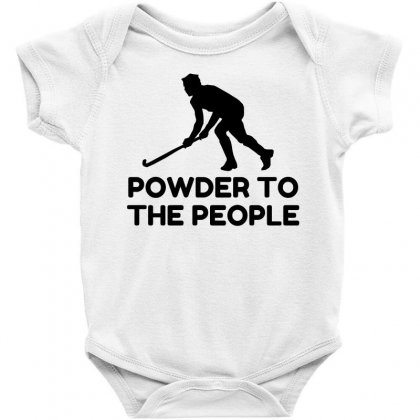 Powder Snow To The People Ski Baby Bodysuit Designed By Perfect Designers