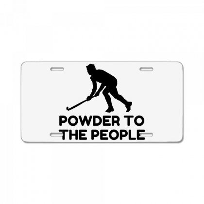 Powder Snow To The People Ski License Plate Designed By Perfect Designers