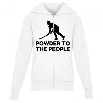 Powder Snow To The People Ski Youth Zipper Hoodie Designed By Perfect Designers