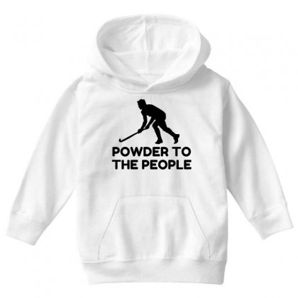 Powder Snow To The People Ski Youth Hoodie Designed By Perfect Designers