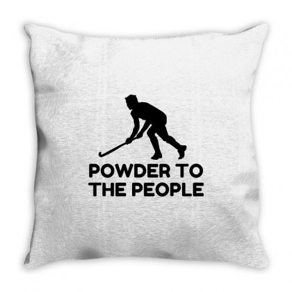Powder Snow To The People Ski Throw Pillow Designed By Perfect Designers