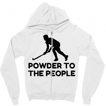 Powder Snow To The People Ski Zipper Hoodie Designed By Perfect Designers