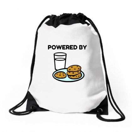 Powered By Cookies Drawstring Bags Designed By Perfect Designers