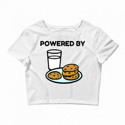 Powered By Cookies Crop Top Designed By Perfect Designers
