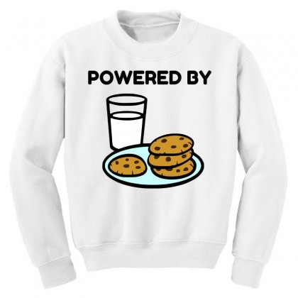 Powered By Cookies Youth Sweatshirt Designed By Perfect Designers