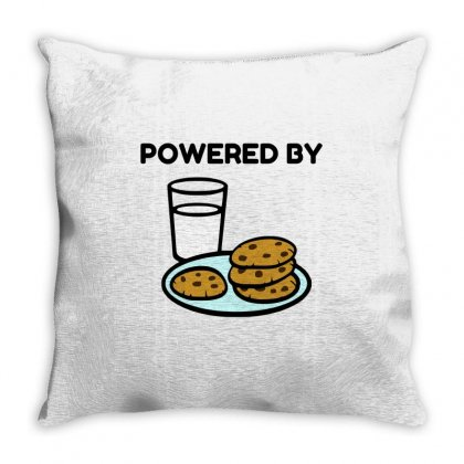 Powered By Cookies Throw Pillow Designed By Perfect Designers