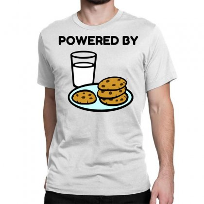 Powered By Cookies Classic T-shirt Designed By Perfect Designers
