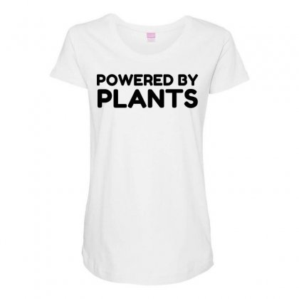 Powered By Plants Maternity Scoop Neck T-shirt Designed By Perfect Designers