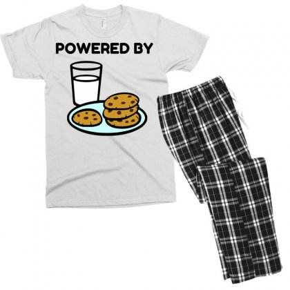 Powered By Cookies Men's T-shirt Pajama Set Designed By Perfect Designers