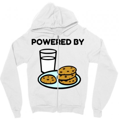 Powered By Cookies Zipper Hoodie Designed By Perfect Designers