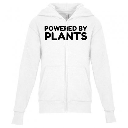 Powered By Plants Youth Zipper Hoodie Designed By Perfect Designers