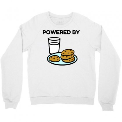 Powered By Cookies Crewneck Sweatshirt Designed By Perfect Designers
