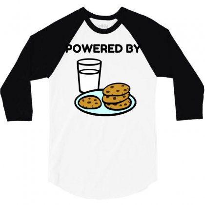 Powered By Cookies 3/4 Sleeve Shirt Designed By Perfect Designers