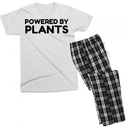 Powered By Plants Men's T-shirt Pajama Set Designed By Perfect Designers
