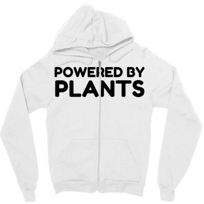 Powered By Plants Zipper Hoodie Designed By Perfect Designers