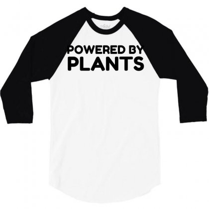 Powered By Plants 3/4 Sleeve Shirt Designed By Perfect Designers