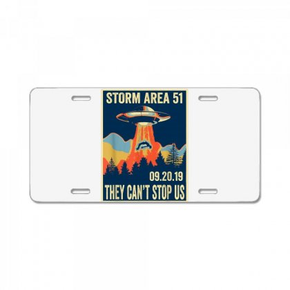 Storm Area 51 Shirt Alien Ufo They Can't Stop Us License Plate Designed By Tran Ngoc