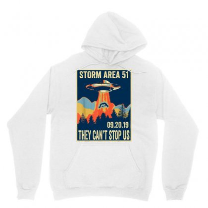 Storm Area 51 Shirt Alien Ufo They Can't Stop Us Unisex Hoodie Designed By Tran Ngoc