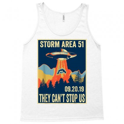 Storm Area 51 Shirt Alien Ufo They Can't Stop Us Tank Top Designed By Tran Ngoc