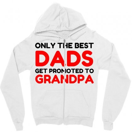 Promoted Grandpa Zipper Hoodie Designed By Perfect Designers