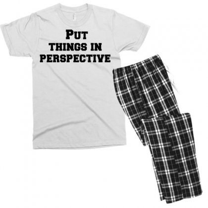 Put Things In Perspective Men's T-shirt Pajama Set Designed By Perfect Designers
