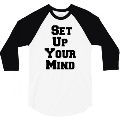 Set Up Your Mind 3/4 Sleeve Shirt Designed By Perfect Designers