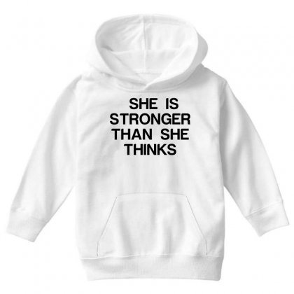 She Is Stronger Than She Thinks Youth Hoodie Designed By Perfect Designers