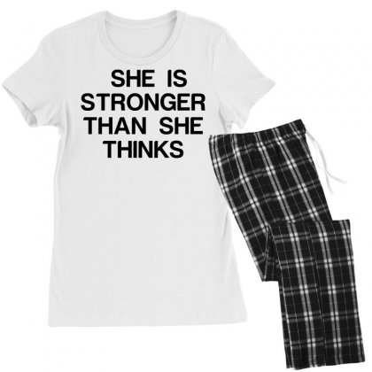 She Is Stronger Than She Thinks Women's Pajamas Set Designed By Perfect Designers