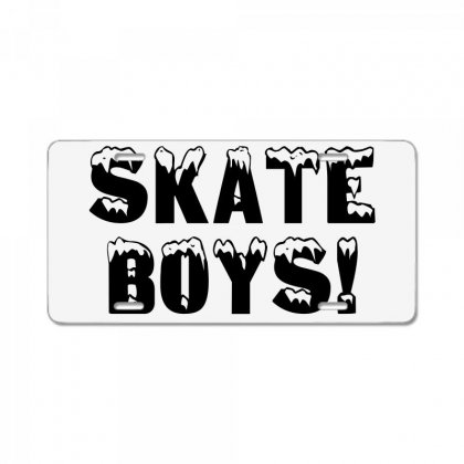 Skate Boys License Plate Designed By Perfect Designers