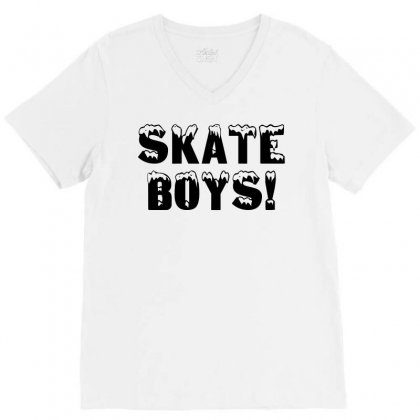 Skate Boys V-neck Tee Designed By Perfect Designers