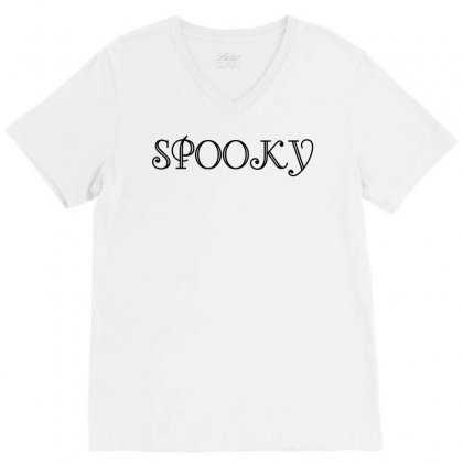 Spooky V-neck Tee Designed By Perfect Designers