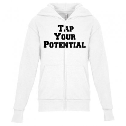 Tap Your Potential Youth Zipper Hoodie Designed By Perfect Designers