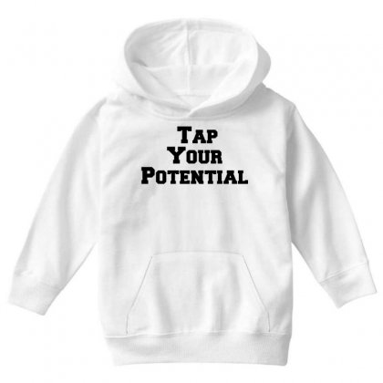 Tap Your Potential Youth Hoodie Designed By Perfect Designers