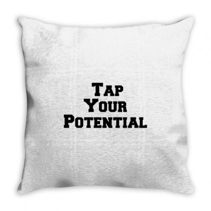 Tap Your Potential Throw Pillow Designed By Perfect Designers