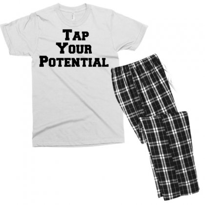 Tap Your Potential Men's T-shirt Pajama Set Designed By Perfect Designers