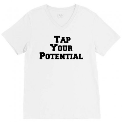 Tap Your Potential V-neck Tee Designed By Perfect Designers