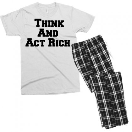 Think And Act Rich Men's T-shirt Pajama Set Designed By Perfect Designers