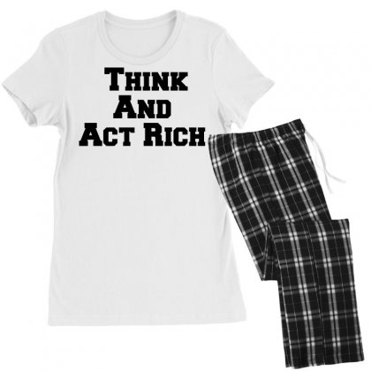 Think And Act Rich Women's Pajamas Set Designed By Perfect Designers